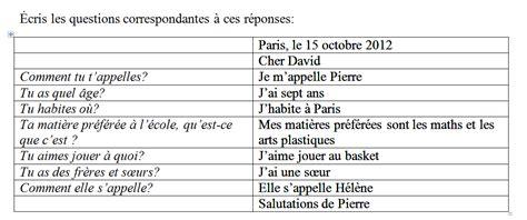 ejercicios de preguntas en frances cosicas para el cole recordatorio examen de franc 233 s