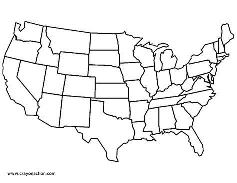 clip art us map western states coloring page blank i abcteach