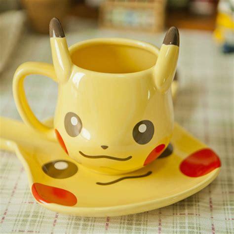 Milk Cup Anime 3d anime pocket monsters pikachu coffee mug creative ceramic milk cup