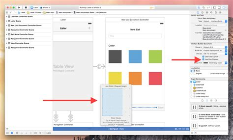 xcode layout guide xcode 6 live rendering visual view debugging and swift