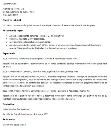 Modelo Curriculum Vitae Contador Publico Ejemplo Curr 237 Culum Gerente Contable Curr 237 Culums De Gesti 243 N Financiera Y Contabilidad