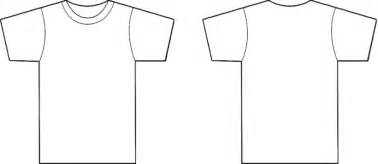 White T Shirt Template Front And Back by Front Back T Shirt Template Clipart Best With T Shirt
