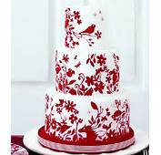 Red Amp White Wedding Cake Decorating