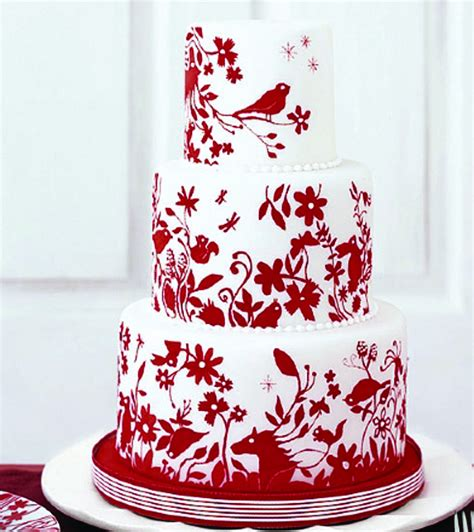 Hochzeitstorte Rot by And White Wedding Cake Ideas Weddings