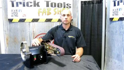 bench grinder belt sander conversion tradesman dc tool grinder with multitool belt attachment