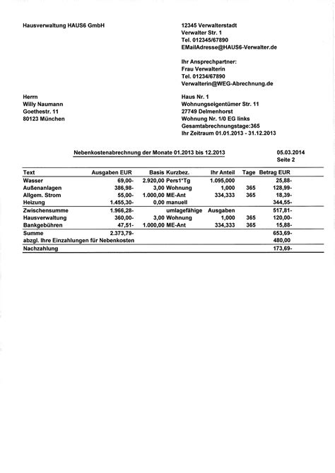 Muster Formular Nebenkostenabrechnung Mietvertrag Kostenlose Vorlage Screenshot 1 Widerspruch Gegen Die Nebenkostenabrechnung