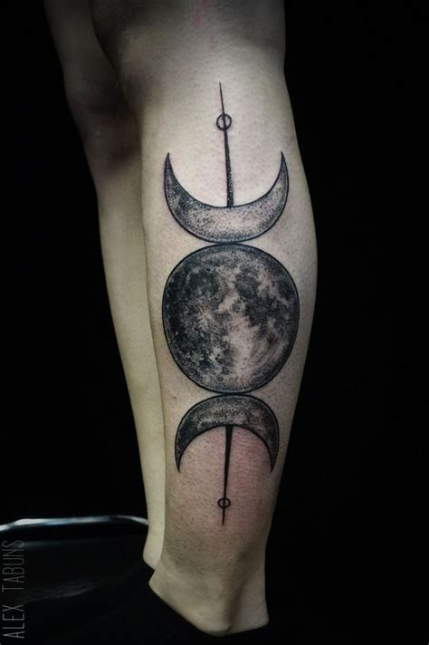 triple moon tattoo 55 amazing pagan tattoos ideas