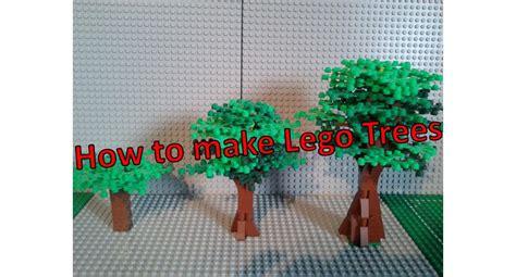 how to make a lego tree how to make lego trees