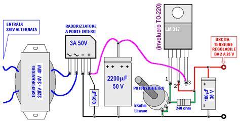 alimentatore con lm317 alimentatore regolabile da 2 a 25 volt