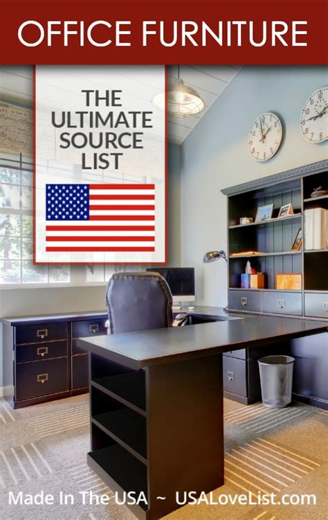 Office Furniture A Made In Usa Source Guide Usa Love List American Made Office Furniture