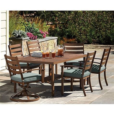 mainstays crossman 7 patio dining set green seats 6 canopy garden glen 7 patio dining set seats 6 d e c k gardens