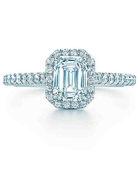 elegant emerald cut engagement rings martha stewart weddings