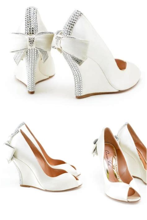 25 best ideas about wedge wedding shoes on