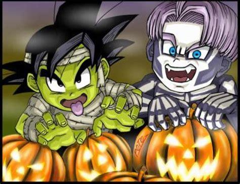 imagenes de dragon ball z halloween dragon ball z images goten and trunks halloween wallpaper