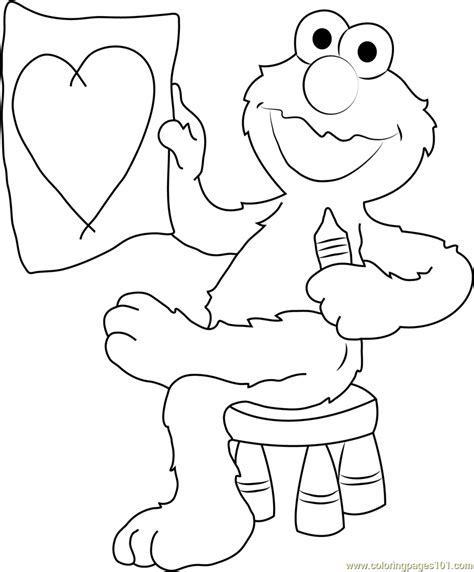 elmo coloring elmo draw coloring page free sesame