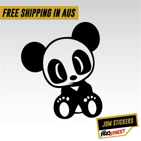 jdm panda sticker jdm panda jdm car sticker decal jdm prostreet