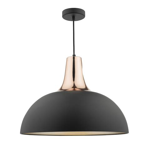 Black And Copper Pendant Light Toronto 1 Light Pendant Black Copper