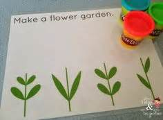 spring printable playdough mats gardening and growing play dough mats free printable