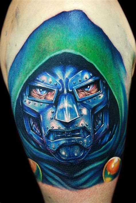 mf doom tattoo dr muthaf cking doom by cecil porter tattoos