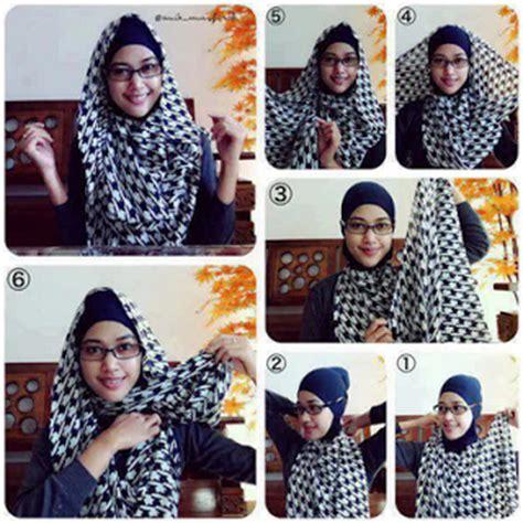 Tutorial Hijab Pashmina Monochrome   tutorial hijab monochrome pashmina kumpulan contoh