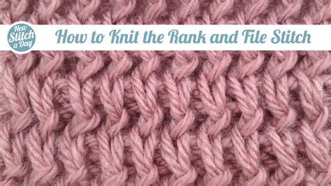 how to knit the bamboo stitch the rank and file stitch knitting stitch 89