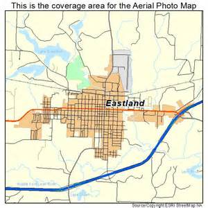 aerial photography map of eastland tx