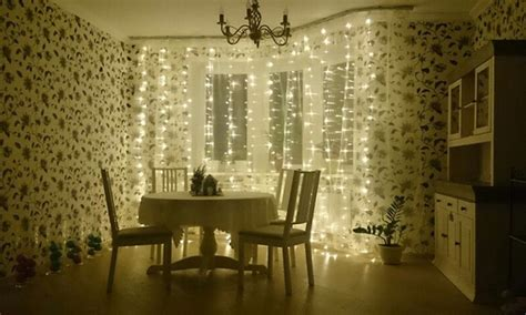 300 led warm white string curtain light 10ft 300 led warm white string curtain lights groupon