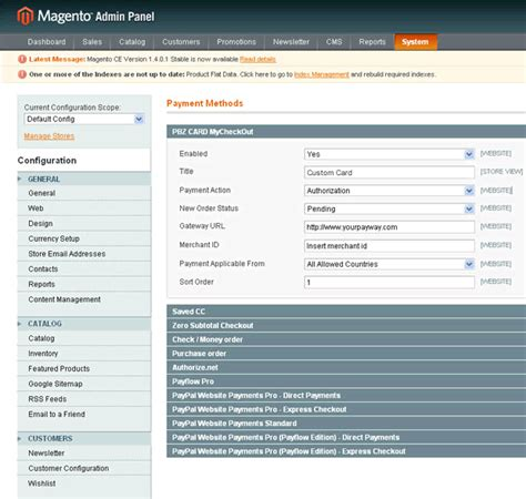 Section 8 Payment Standard 2014 by How To Create Magento Payment Module