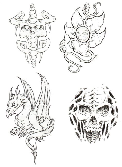 tattoo flash outlines free images