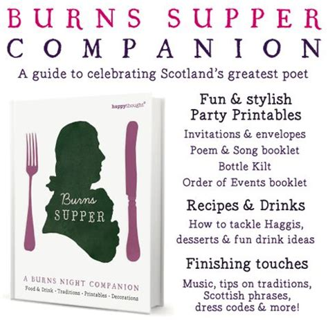 burns supper menu template 1000 images about burns on outlander