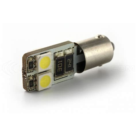 lada led 6w 2 x oules 4 leds smd canbus h6w ba9xs xenon