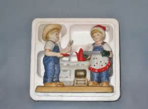 home interior denim days figurines nib cookies for santa denim days porcelain figurine home