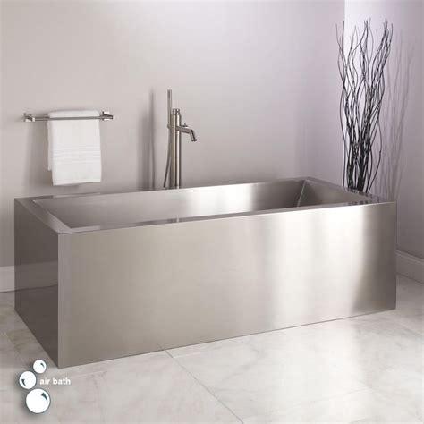 ultro brushed stainless steel air tub metal tub tub brushed stainless steel