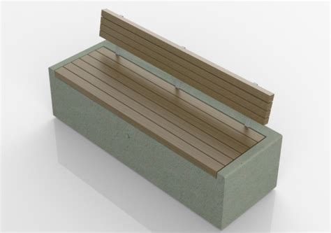 panchina cemento panchine 3d panchina in cemento con seduta in legno