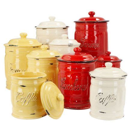 funky kitchen canisters italian ceramic coffee canisters decor