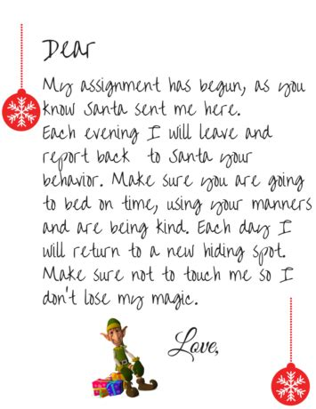 printable elf welcome letter free elf on the shelf welcome letter printable simple