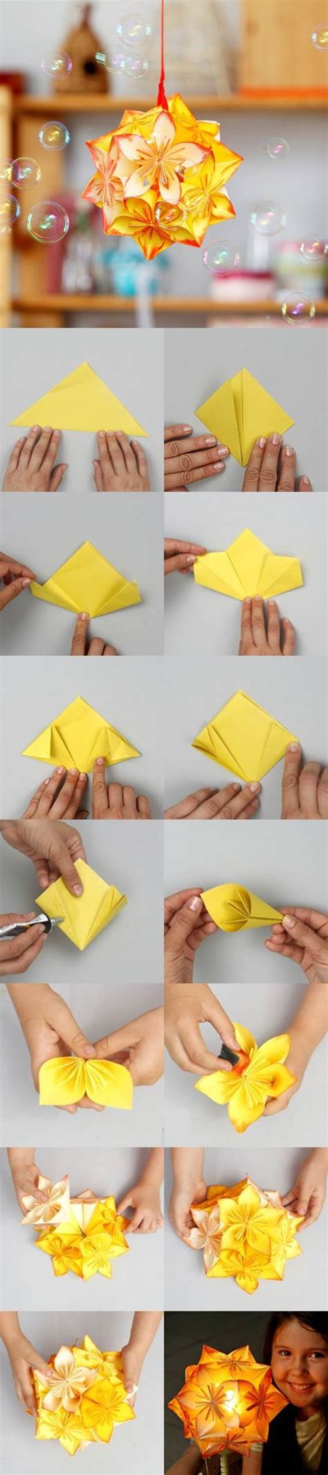 Diy Origami Flowers - diy origami kusudama decoration icreativeideas