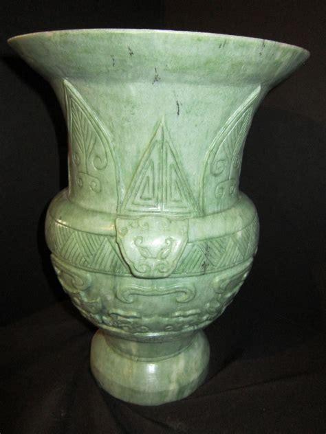 large carved jade vase from somethingwonderful on