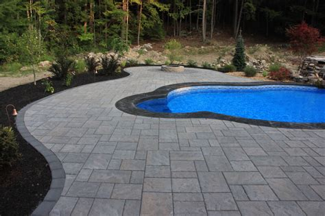 bedford nh pool patio installation landscaping