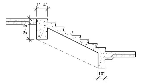 stairs in section stair structure using model in place landarchbim