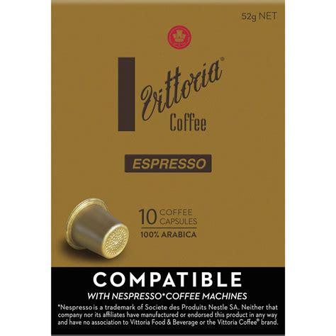espresso coffee capsules vittoria coffee nespresso compatible espresso coffee