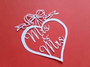 wedding heart papercut templates mrs amp mrs