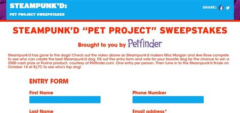 Gsn Sweepstakes - gsntv com sweeps gsn steunk d pet project sweepstakes sweepstakes lovers