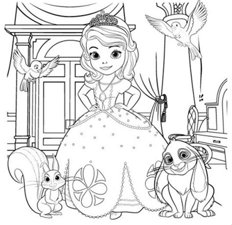 Sofia The First Coloring Pages Princess Sofia Coloring Pics