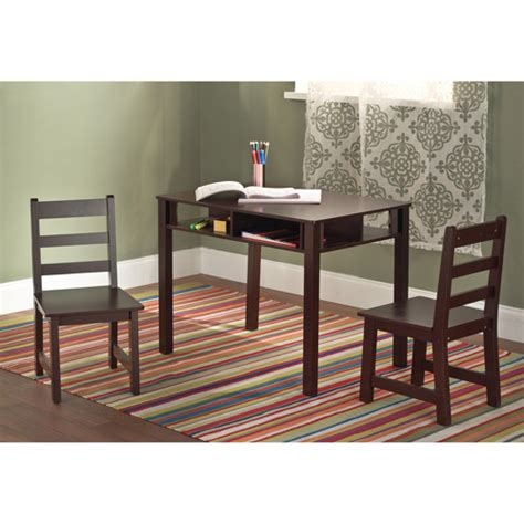 Childrens Table And Chairs Walmart table and chairs set espresso walmart