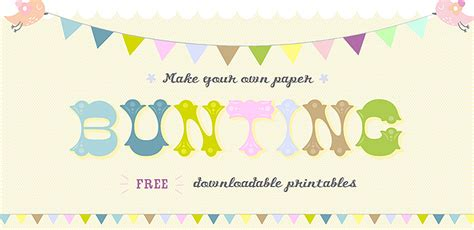 Make Your Own Paper Bunting - print your own colour in paper bunting