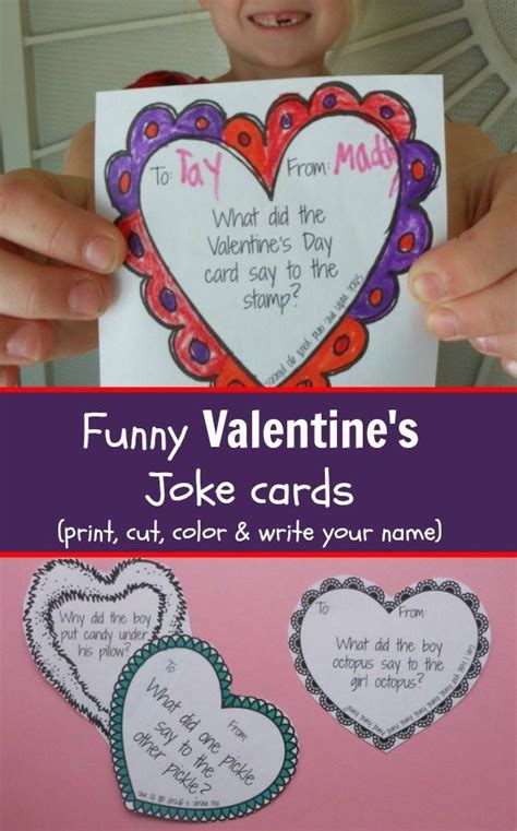 valentines day joke cards s day cards printable joke cards for