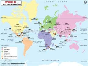 Airport World Map by Airports In Regions Regions Airports Map