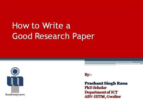 powerpoint research paper how to write a research paper authorstream