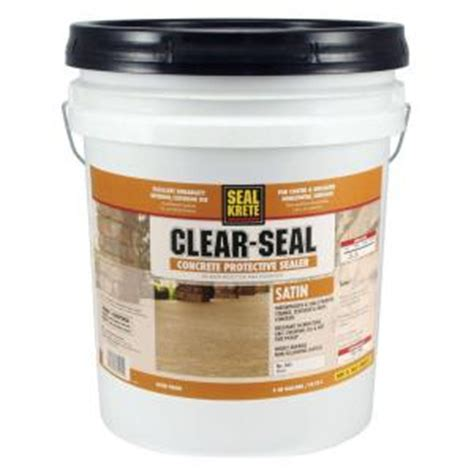 seal krete 5 gal satin clear seal concrete protective